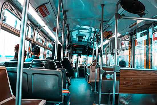 Interieur van een bus